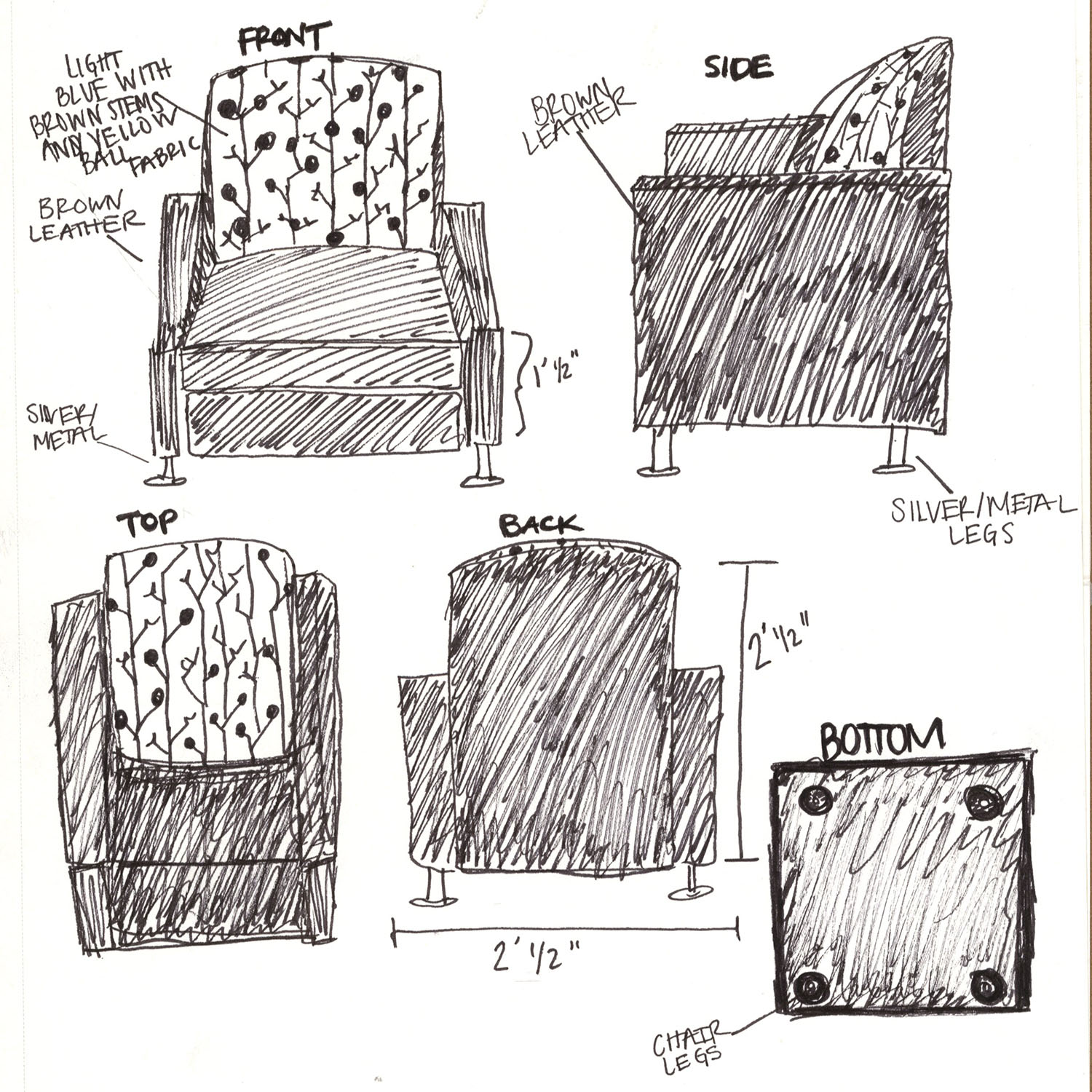 how to draw a muskoka chair from the back