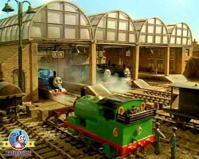 Island of Sodor Percy and Thomas the tank engine Knapford Station platform TV childrens show episode