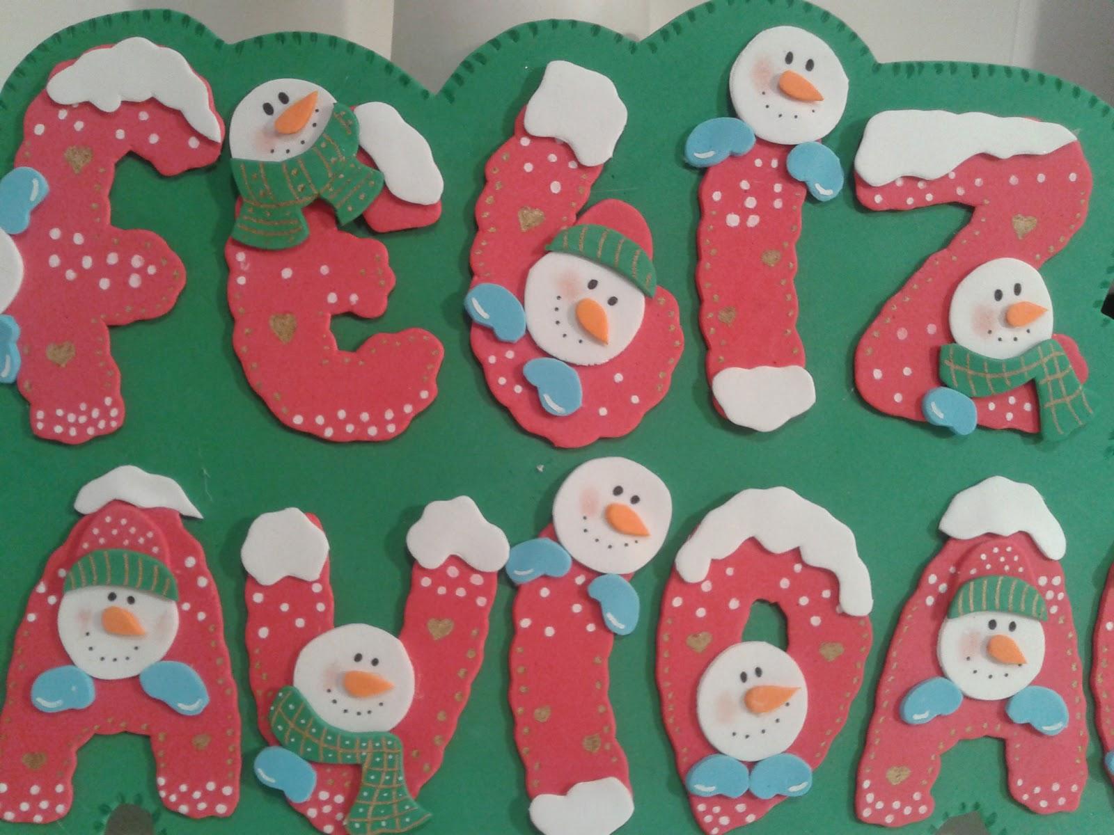 Alfileres de boda martos cartel goma eva feliz navidad for Ornamentacion para navidad