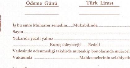 Boş Senet örneği Muhasebe Trnet Türkiyenin Muhasebe Bloğu