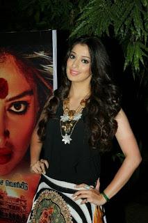 Laxmi Rai in Short Skirt at Audio Launch of Aranamanai Tamil Movie