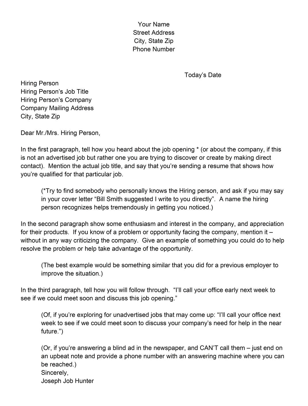 Example of really good cover letters for Cover letter when you know the hiring manager