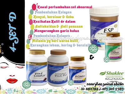 set vitamin shaklee untuk kulit