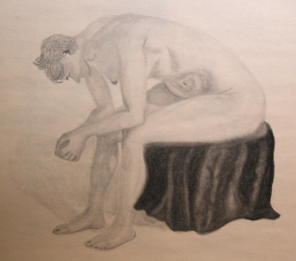 140902 - Day 02a - 30 in 30 Challenge - Graphite & Charcoal on newsprint -  Dave Casey - TheDailyPainter.jpg
