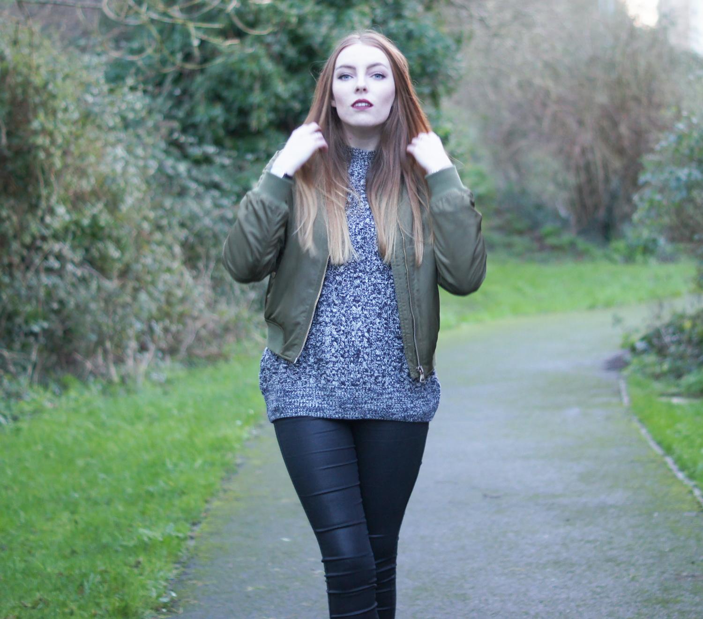 topshop classic knit high neck jumper