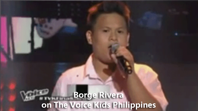 Borge Rivera on The Voice Kids Philippines