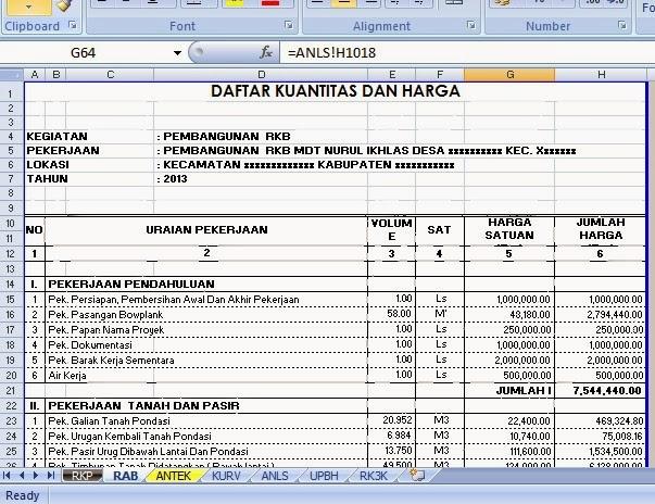 Rencana Anggaran Biaya Pembangunan Rumah Rencana Anggaran Biaya Rab