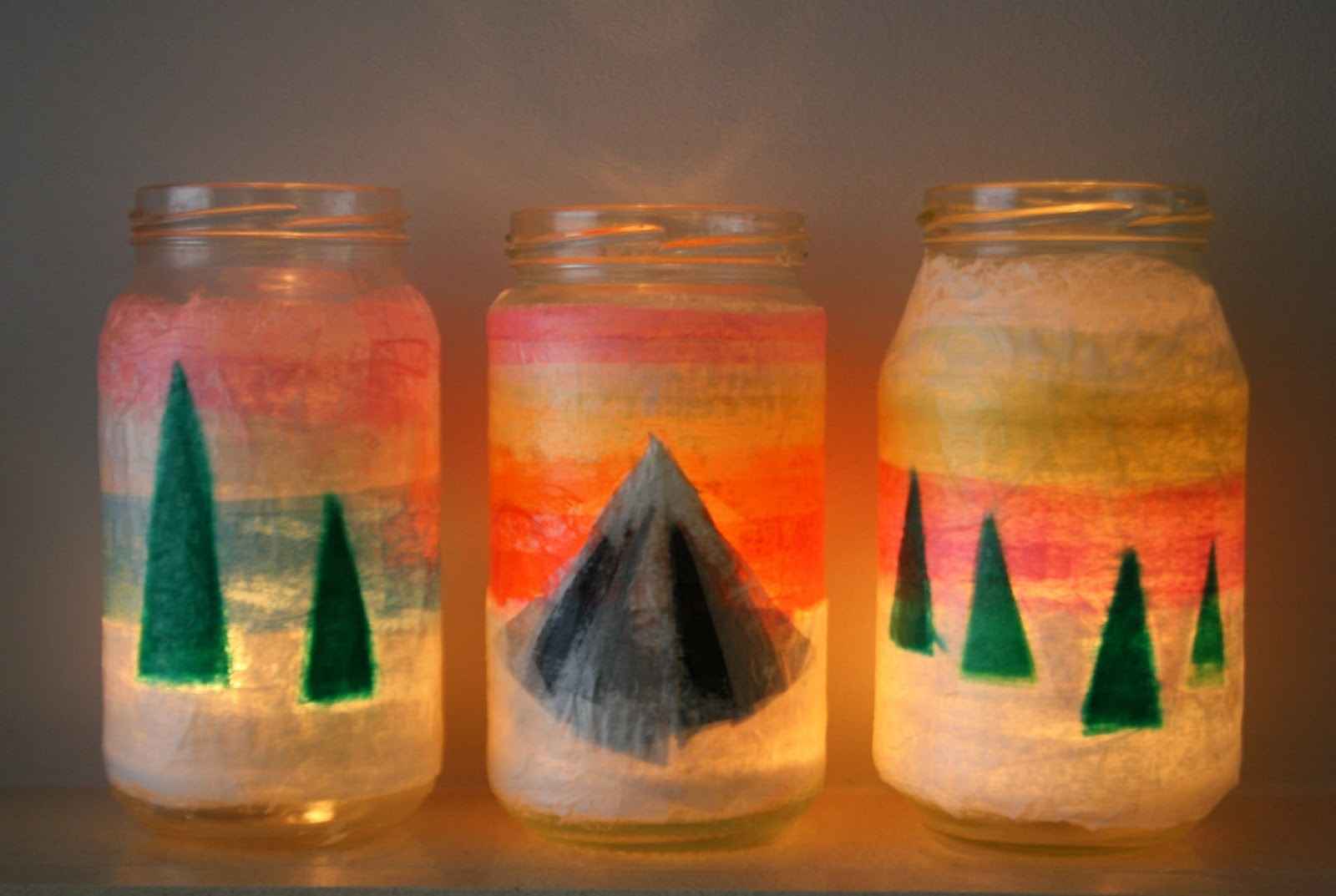 Tales from a happy house.: Alpine Tea Light Holders