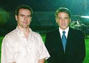 Beto Vetromille e o ex governador Germano Riggotto - 2004