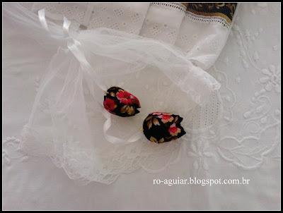 detalhe de embalagem - tulipa de tecido