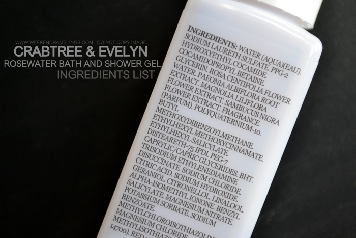 Crabtree Evelyn Bath Body Products Skincare Ingredients Rosewater Shower Gel Indian Beauty Blog Reviews