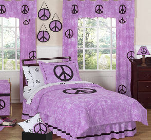 Modern Dark and Bright Purple Bedrooms Set
