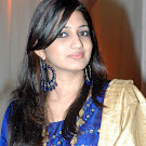 Vijay Tv Anchor Divya  in Blue Churidhar