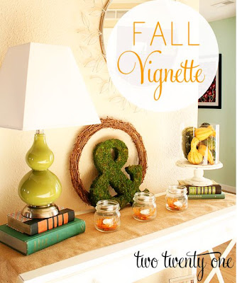 Fall Vignette Display