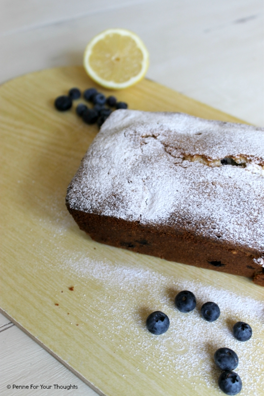 Lemon and blueberry madeira cake