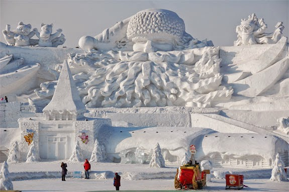 LIB S LABYRINTH Ice & Snow Festivals in Harbin China
