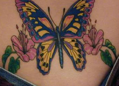 Butterfly Tattoo, Tattoo on Hip