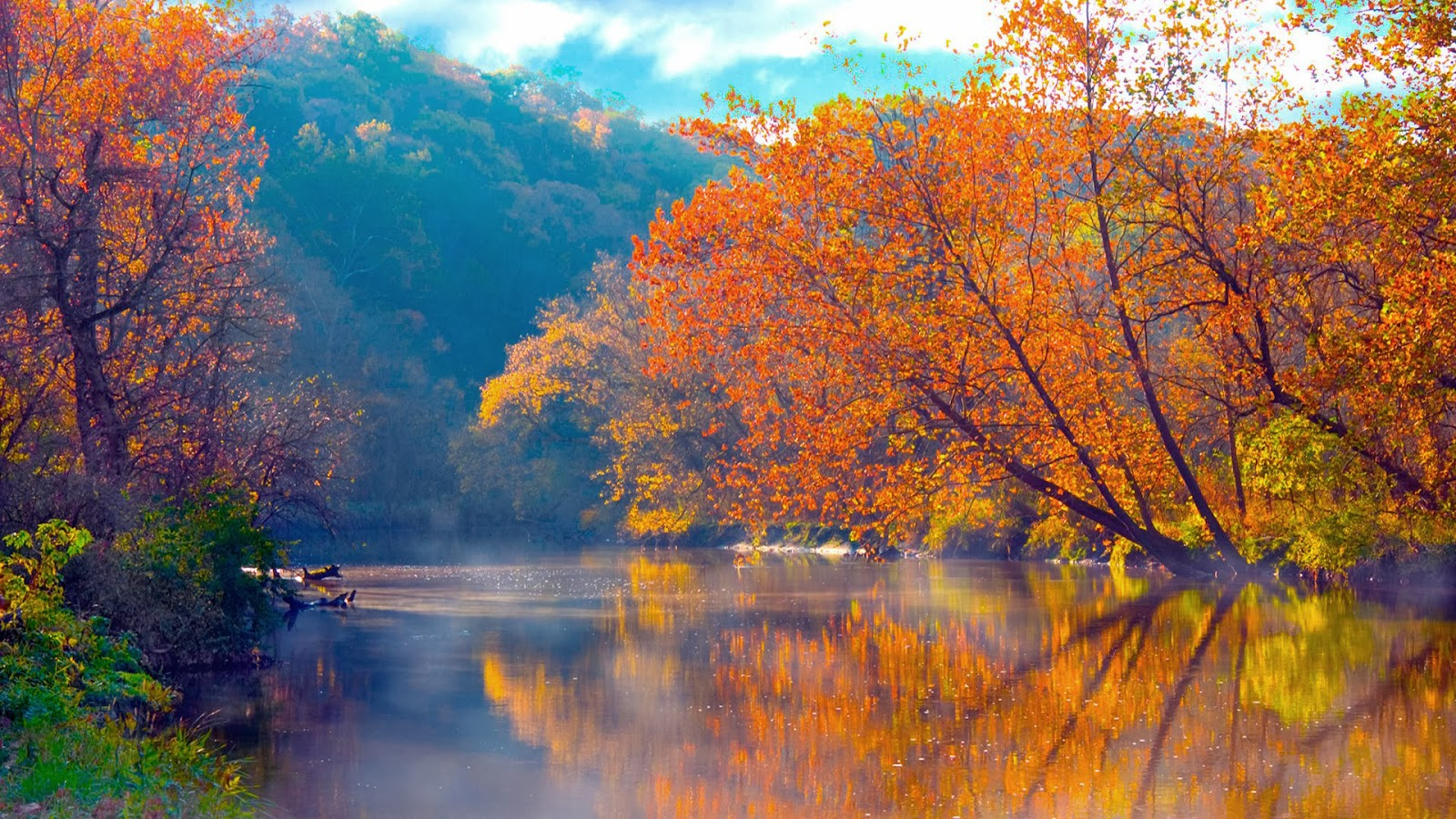 hd wallpapers desktop autumn wallpaper with red leaves