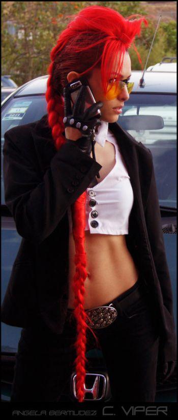 Angela Bermúdez deviantart incríveis cosplays filmes games linda nerd Crimson Viper (Street Fighter)