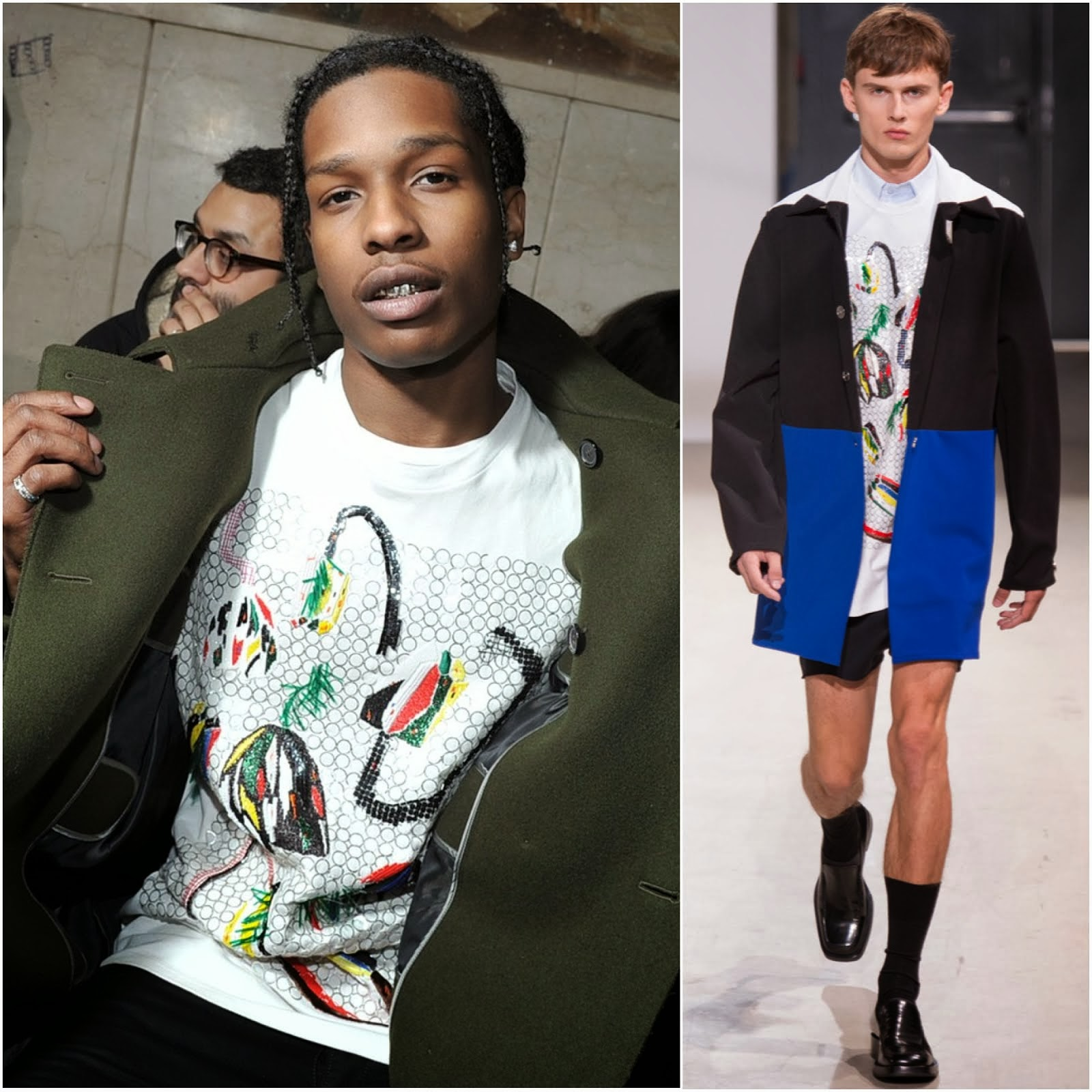 A$AP Rocky in Raf Simons - Raf Simons Fall Winter 2014, #PFW