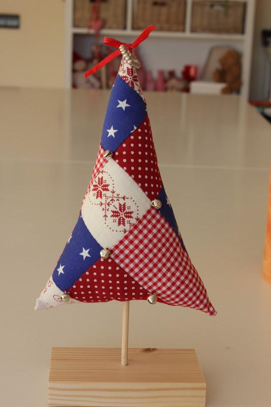 Mi hogar de patchwork arbol de navidad christmas tree - Arbol navidad tela ...