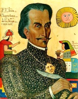 Dibujo del Inca Garcilaso de la Vega
