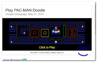 OpO ~ Bermain Game Pac-Man Dengan Google