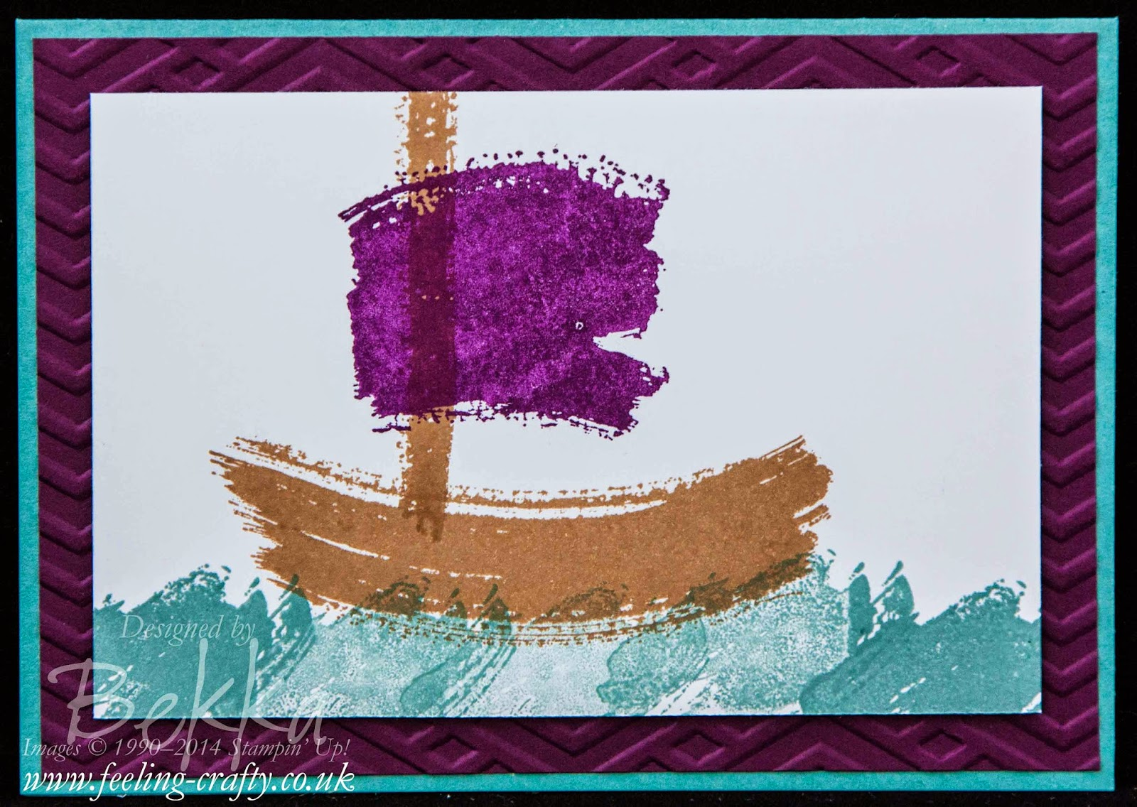 Setting Sail - using the Stampin' Up! UK Stamp Set Work of Art to make a fast and fun card