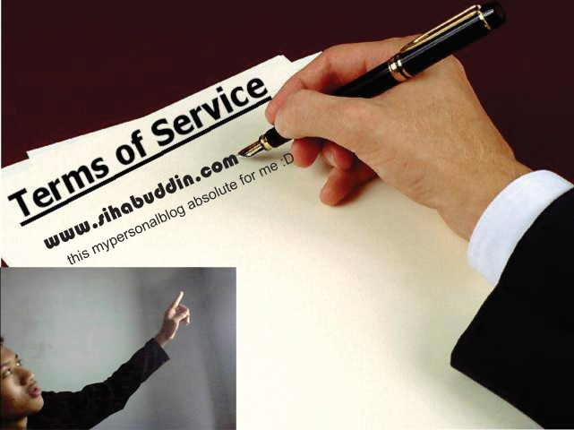 Terms Of Service of sihabuddin.com