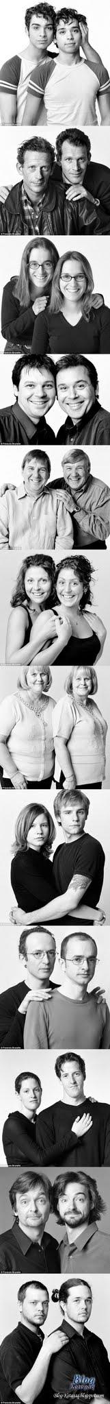 Wajah seiras tetapi bukan kembar