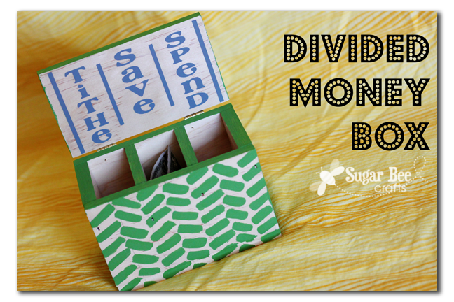 Divided money box sugar bee crafts for Making crafts for money
