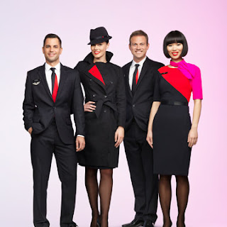 New look uniform for Qantas cabin crew and ground staff