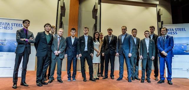 Participantes del Tata Steel Chess Masters 2016 (Foto: Alina l'Ami)