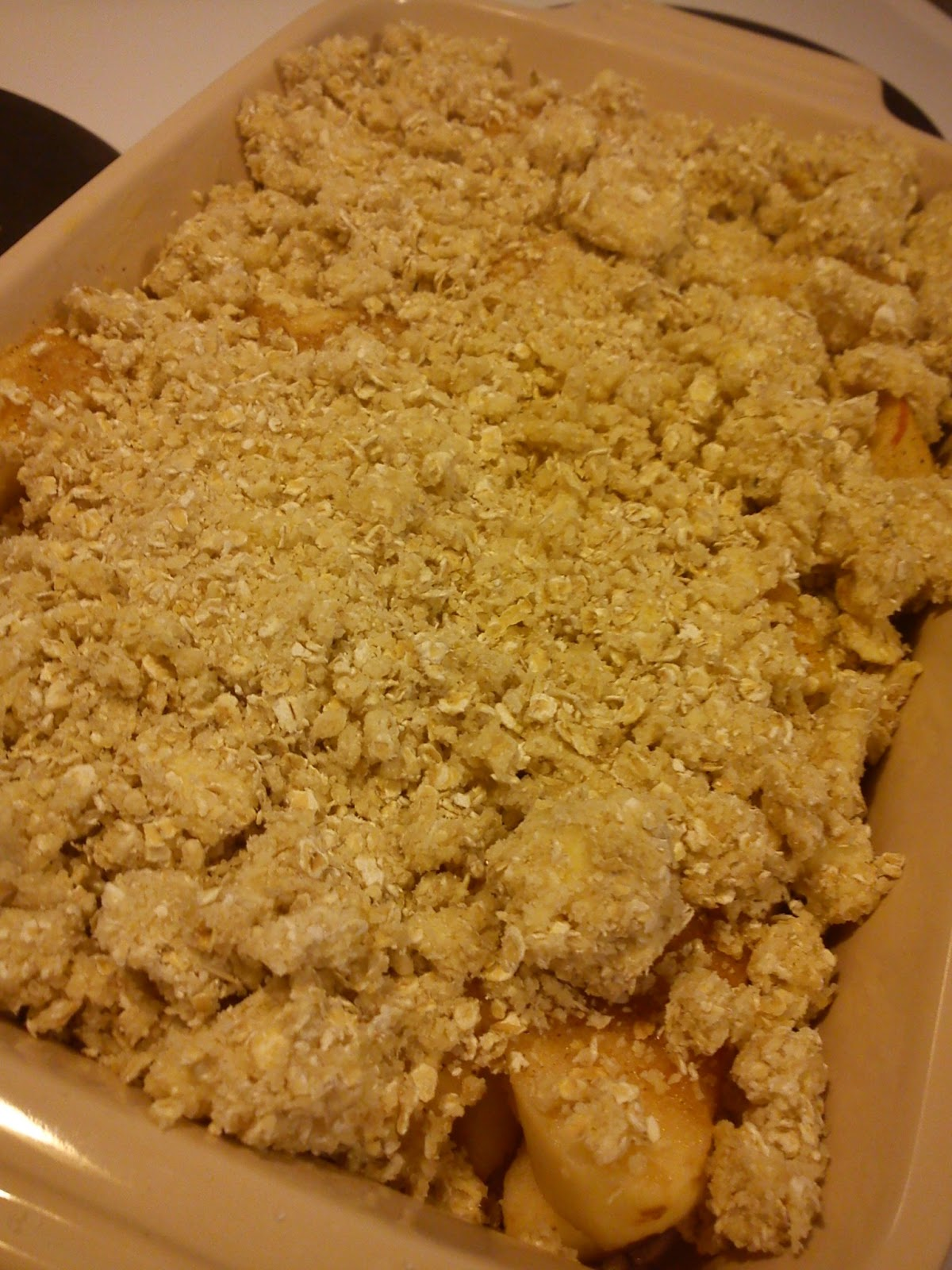 Kitchen of Kiki: Apples with oat flakes crumble
