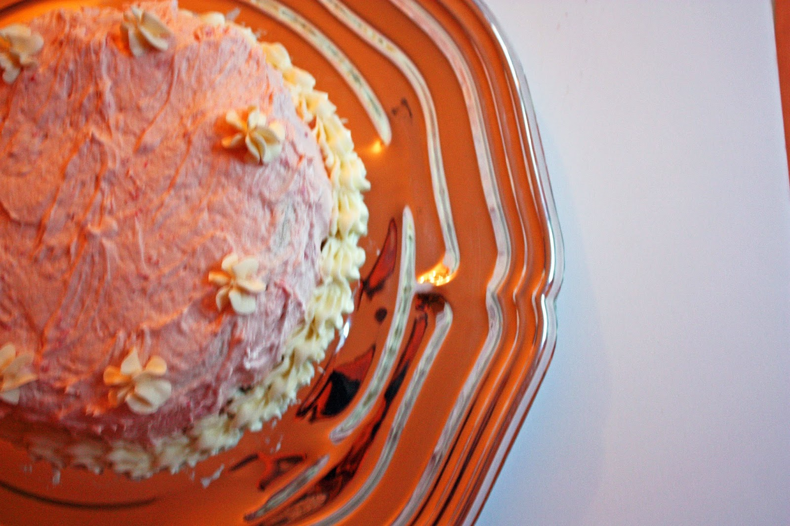 vegan fresh strawberry layer cake