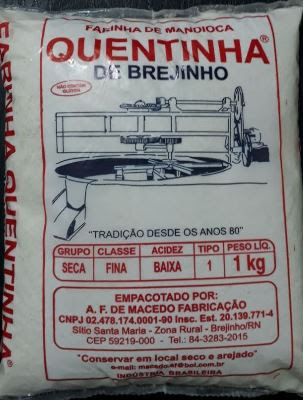 FARINHA DE MANDIOCA QUENTINHA DE BREJINHO-RN