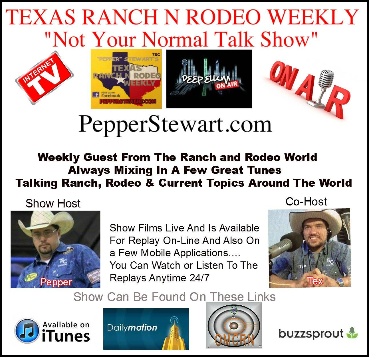 Sponsor - TX Ranch N Rodeo Weekly Talk Show