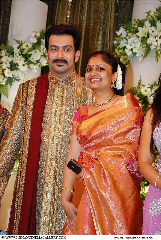 World Sport Stars Prithviraj Wedding Reception Photos Prithviraj