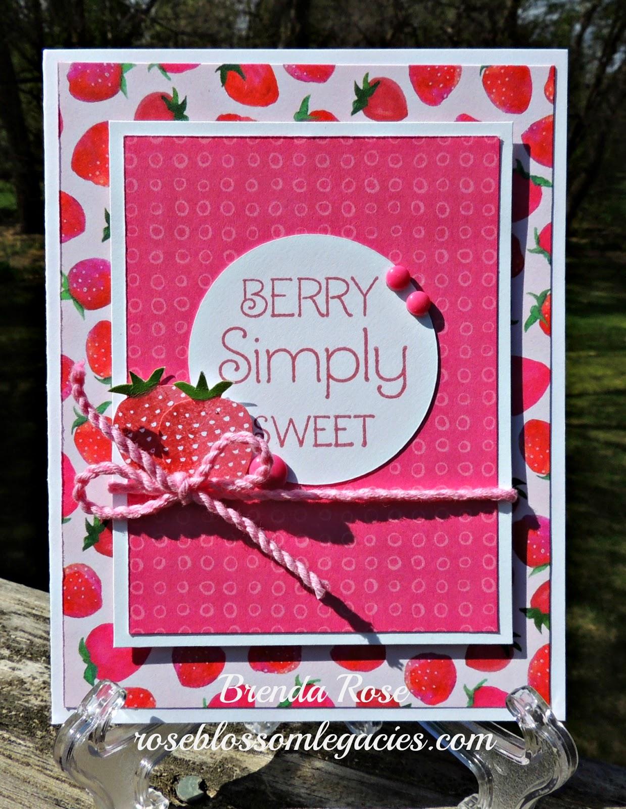 rose blossom legacies  taste of summer card workshop