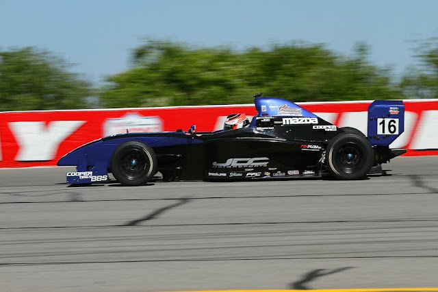 Lloyd Read in the Almost Everything Formula Car at Indianapolis Lucas Oil Raceway