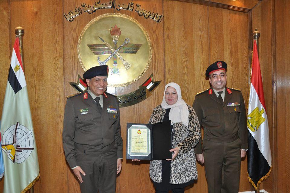 تكريمى فى حفل تخرج كلية الدفاع الوطنى اكاديمية ناصر العسكرية