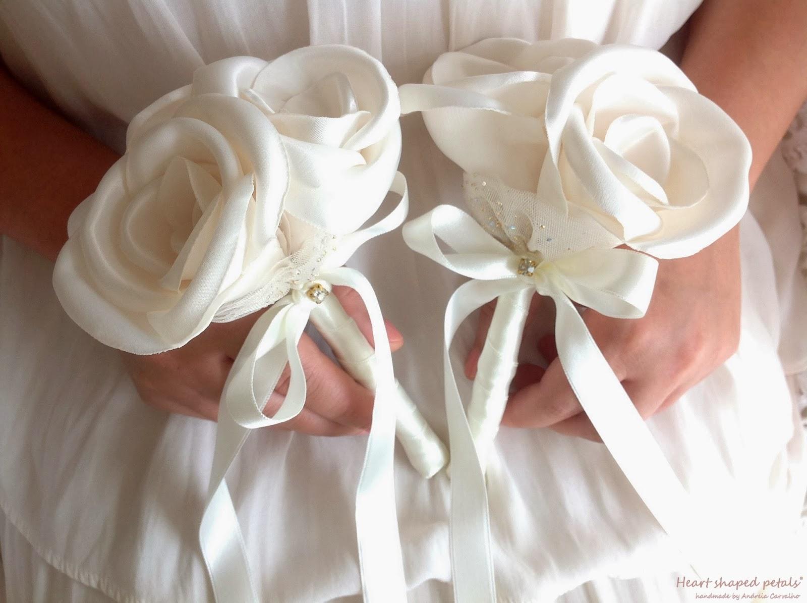 Bouquets de rosas damas de honra