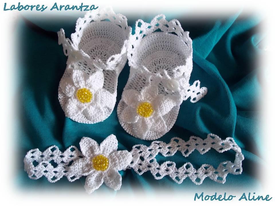 Handmade by arantza rivas conjunto de diadema y sandalias - Diademas para bautizo ...