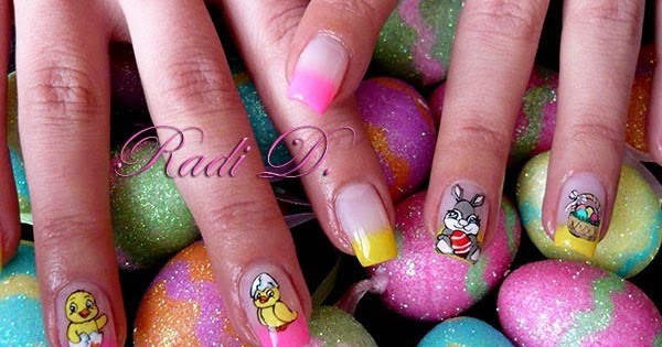 nails easter rabbit