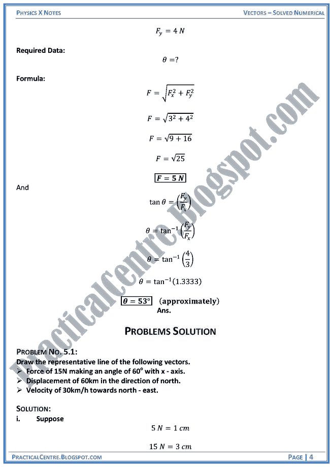 vectors-solved numericals-example-and-problem-physics-x