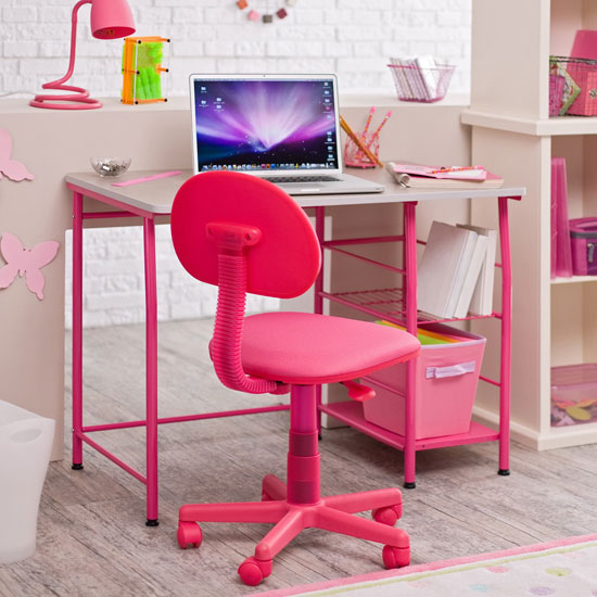 Girl Pink Teen Desk Chair 550 x 550
