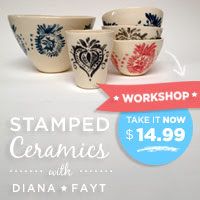 Stamped Ceramics with Diana Fayt