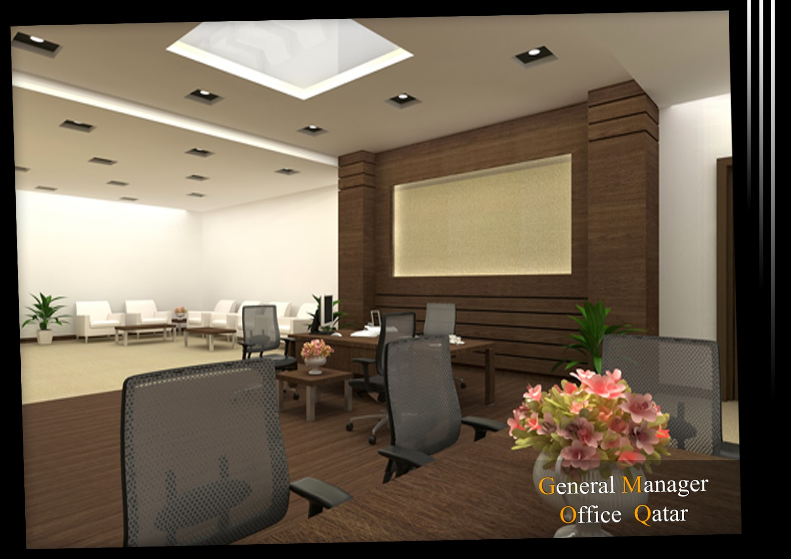 Arch Michael Boules Interior Design For General Manager Office Qatar