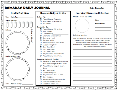 daily health journal template