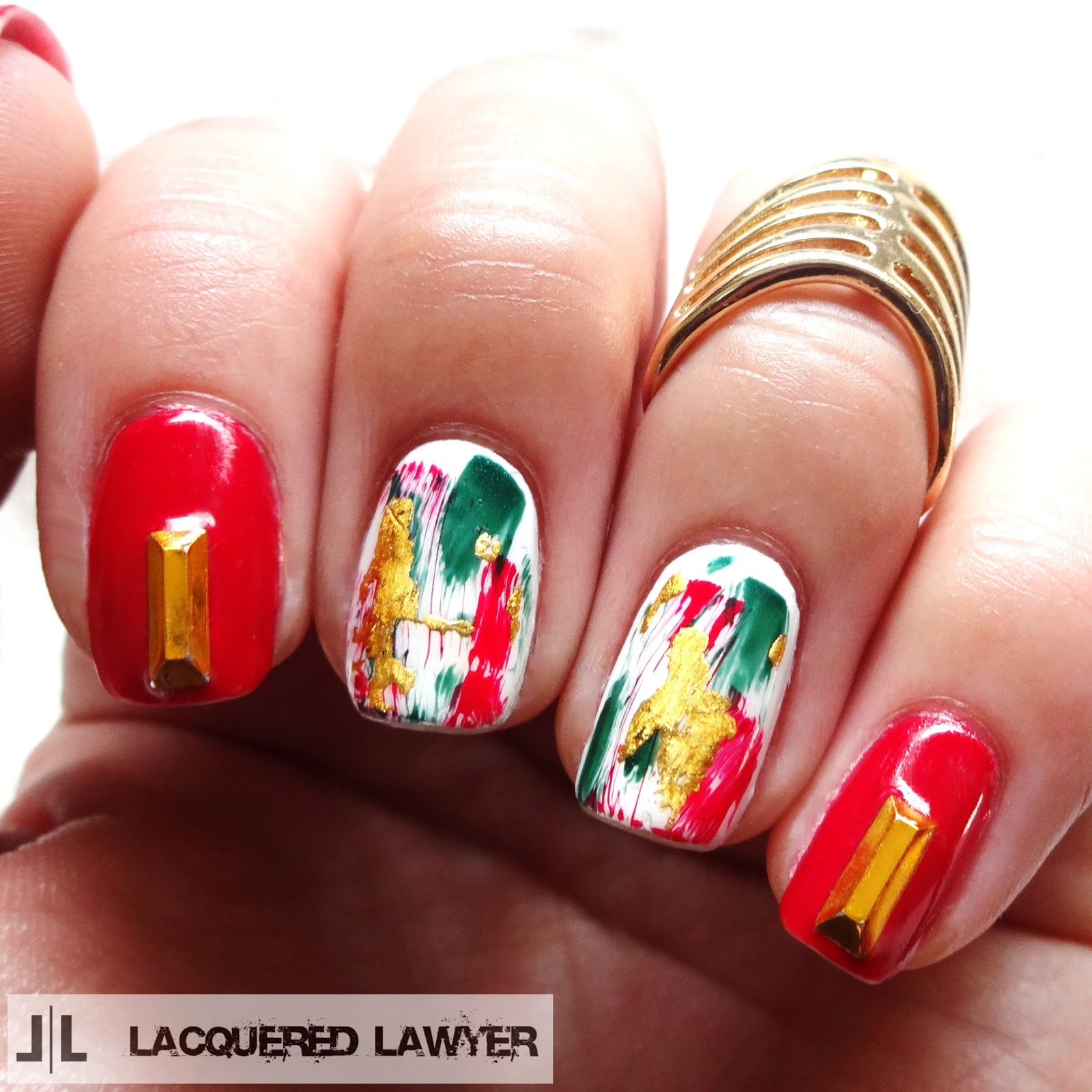 Lacquered Lawyer | Nail Art Blog: Abstract Christmas